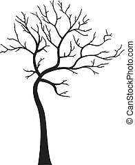装飾用である, 葉, なしで, 木