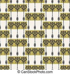 装飾用である, 装飾用, すべて, モチーフ, 上に, アラベスク, 家, 芸術, decor., 織物, 芸術, 花...