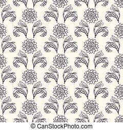 装飾用である, 装飾用, すべて, モチーフ, 上に, 家, 芸術, passionflower, decor., 織物...