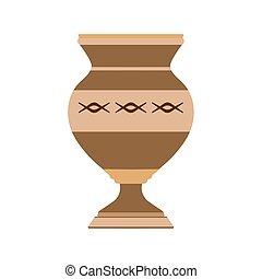 装飾用である, 陶器, 花, 芸術, ポット, セラミック, 隔離された, イラスト, つぼ, 装飾, バックグラウンド。, デザイン, アイコン