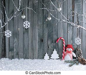 装飾用である, 雪だるま, ブランチ, キャンデー, 内部, クリスマス