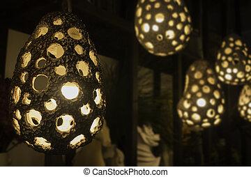 装飾用である, 電球, スタイル, ライト, 現代, cray