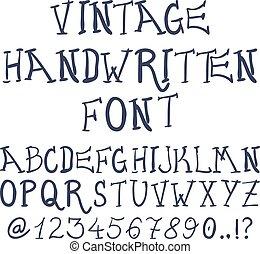装飾用である, abc, 手紙, 型, 手, ベクトル, textured, 引かれる