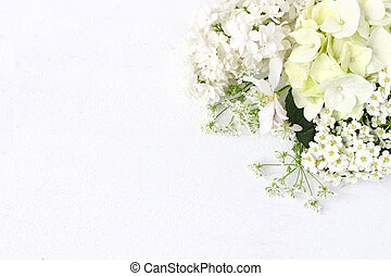 装飾用である, composition., アップル, 花束, スタイルを作られる, photo., テーブル, アジサイ, バックグラウンド。, flowers., 白, ブランチ, 株, 平ら, birthday, 位置, 結婚式, 花, spirea, ライラック, 開くこと, 木, 野生, ∥あるいは∥