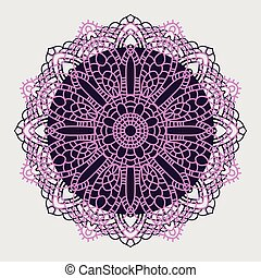 装飾用である, mandala., indian, pattern.