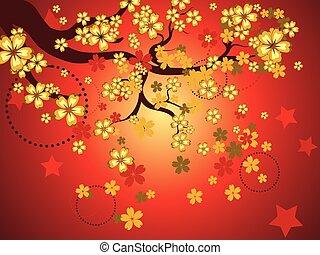 装飾用である, sakura, 背景