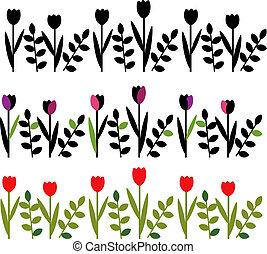 装飾用のけい畔, 花