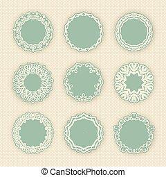 装飾用の境界, 円