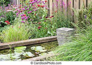 装飾用, わずかしか, 噴水庭, 池