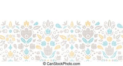 装飾用, チューリップ, 抽象的, seamless, 織物, 背景, 型, パターン, 横, ボーダー