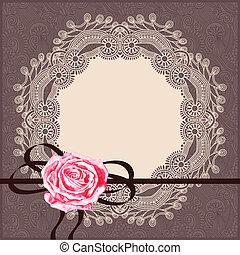 装飾用, ナプキン, リボン, カード, パターン