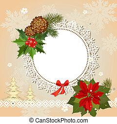 装飾用, フレーム, クリスマス, openwork