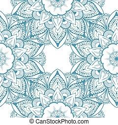 装飾用, レース, pattern., seamless, ベクトル, 花, ラウンド