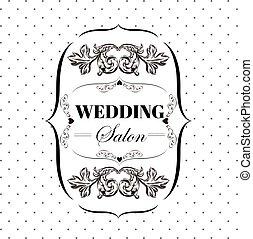 装飾用, 大広間, 要素, 看板, バックグラウンド。, ベクトル, bridal