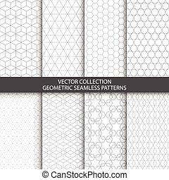 装飾用, 幾何学的, patterns.