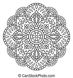 装飾用, 抽象的, mandala.