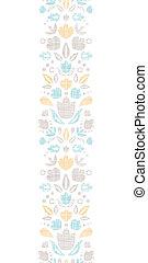 装飾用, 縦, チューリップ, 抽象的, seamless, 織物, 背景, 型, パターン, ボーダー