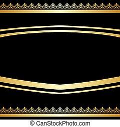 装飾用, -, 背景, 金, 黒