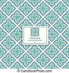 装飾用, elements., 包装, 伝統的である, 民族, (どれ・何・誰)も, 青い羽布, pattern., seamless, 型, indian, motifs., 織物, ペイズリー織, トルコ語, ornament., 切望された, 壁紙, 偉人, idea., 緑, ∥あるいは∥