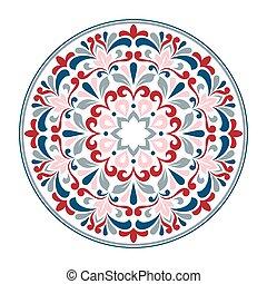装飾用, pattern., ラウンド, レース