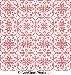 装飾用, seamless, パターン, 花