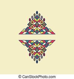 装飾的な 芸術, frame., 型, 要素, レトロ, 線, style., design.