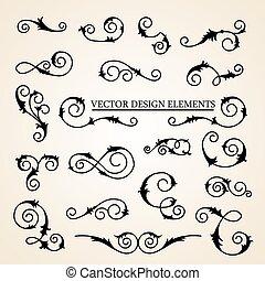 装飾的な 要素, デザインを設定しなさい, ベクトル