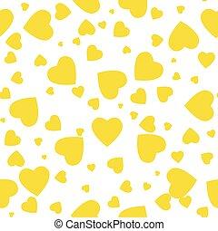 装飾的な 要素, 芸術, illustration., 贈り物, パターン, 抽象的, 現代, seamless, 黄色, 創造的, 包装, バックグラウンド。, ベクトル, hearts., デザイン, 幾何学的, wrap., work., design.