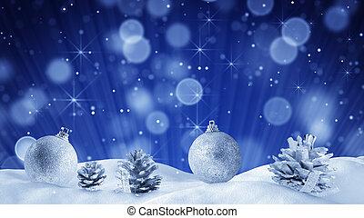 装飾, きらめく, クリスマス