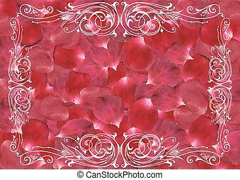 装飾, ばら色 花弁