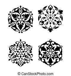 装飾, アラビア, セット, 東洋人