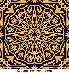 装飾, アラビア, 東洋人, パターン, カーペット