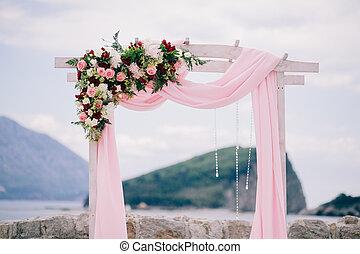 装飾, アーチ, 目的地, 結婚式