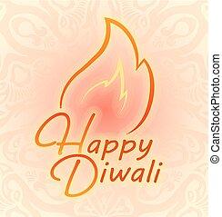 装飾, カラフルである, 祝祭, diwali, fires., indian, 幸せ