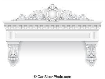 装飾, クラシック, 窓, 建築である, ファサド, 白