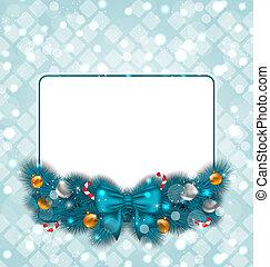 装飾, クリスマスカード, 祝福