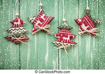 装飾, クリスマス, 掛かること