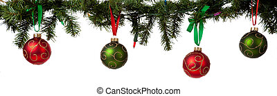 装飾, クリスマス, 花輪, 掛かること
