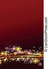 装飾, クリスマス, 金, 赤