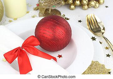 装飾, テーブル, クリスマス