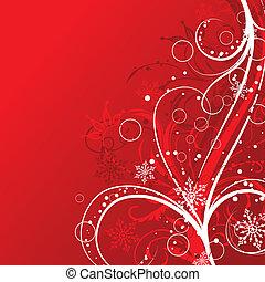 装飾, ベクトル, クリスマス, 背景