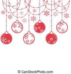 装飾, ボール, クリスマス