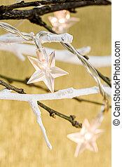 装飾, ライト, 星, クリスマス