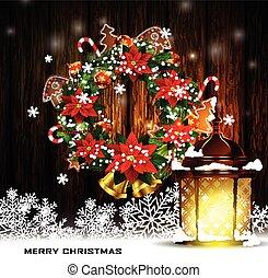 装飾, ライト, 通り, クリスマス