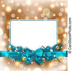 装飾, 優雅である, グリーティングカード, クリスマス