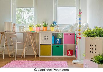 装飾, 子供 部屋, カラフルである