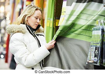 装飾, 家, 女性買い物, スーパーマーケット