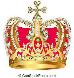 装飾, 戴冠用宝玉器, 金, 皇族