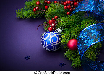 装飾, 新しい, クリスマス, 年