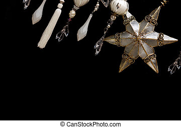 装飾, 木, クリスマス, 金, 銀